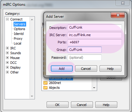 mIRC – Basic Setup on Cuff-Link | Cuff-Link Community Blog